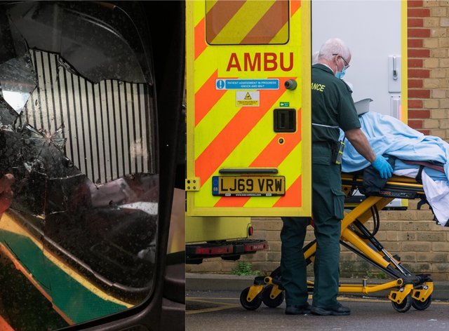 The ambulance was out of action for hours while it was repaired (South Central Ambulance Service NHS Foundation Trust and Joe Giddens/PA)