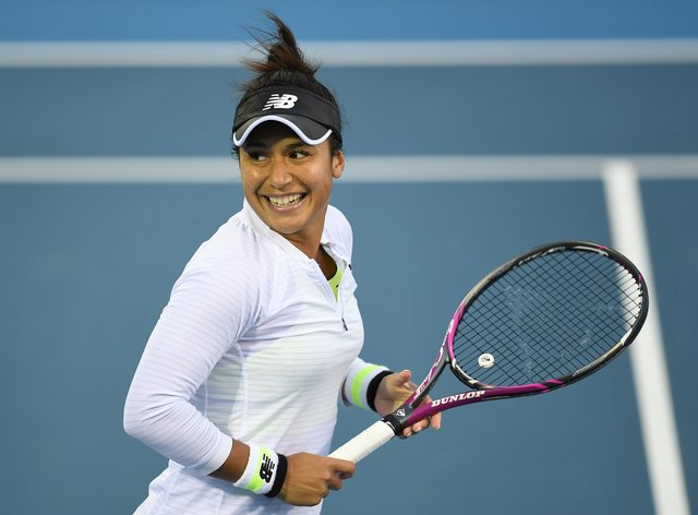 <p>Heather Watson has said she is 'happy' to get the win&nbsp;</p>