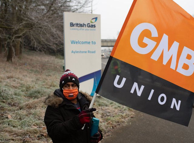 British Gas engineers on the picket line
