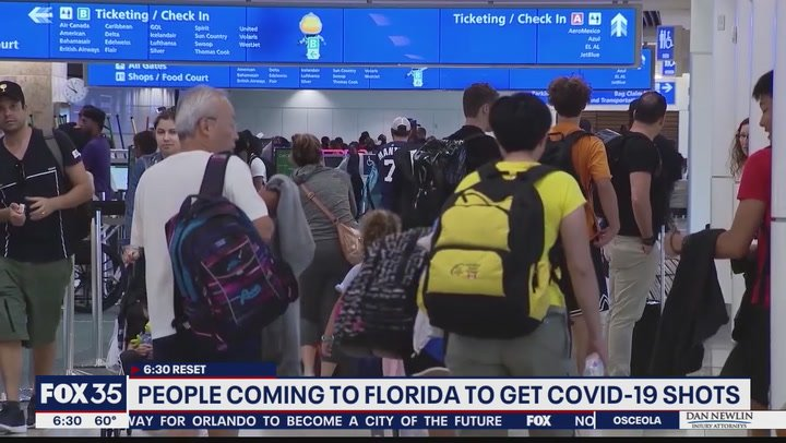 Tourists from around the world flock to Florida for Covid-19 vaccine