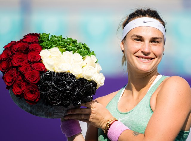 <p>Aryna Sabalenka storms to victory in WTA final </p>
