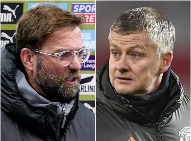 Liverpool boss Jurgen Klopp (left) and Manchester United counterpart Ole Gunnar Solskjaer