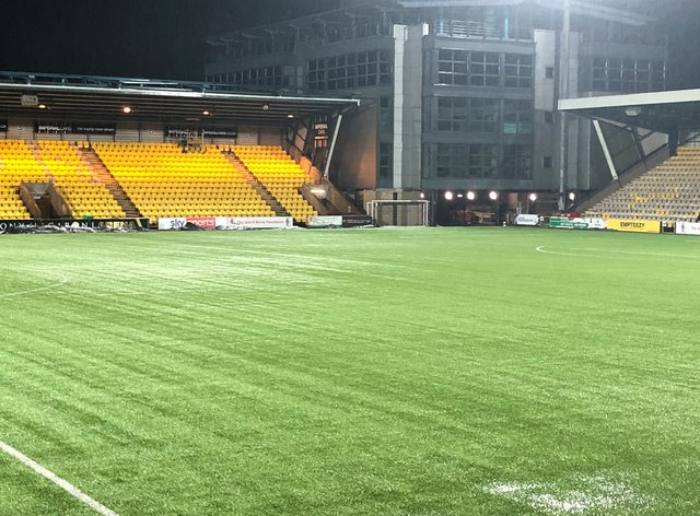 LIvingston's pitch was waterlogged
