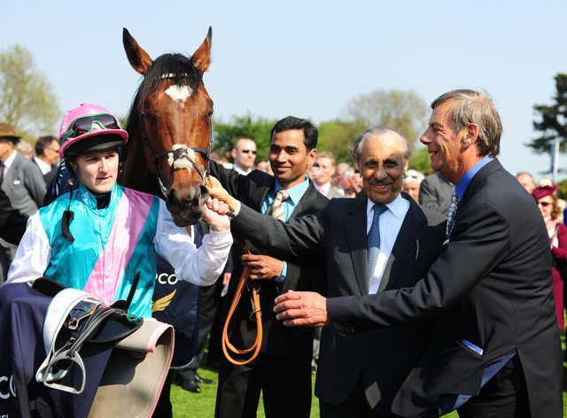 Prince Khalid Abdullah with the late Sir Henry Cecil and Frankel