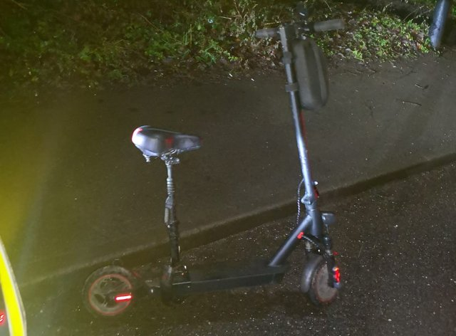 The e-scooter seized by South Yorkshire Police