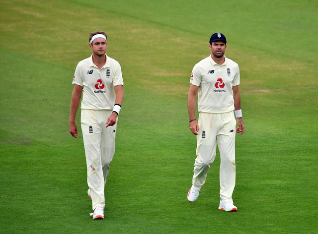 James Anderson, right, replaces Stuart Broad, left, for the second Test