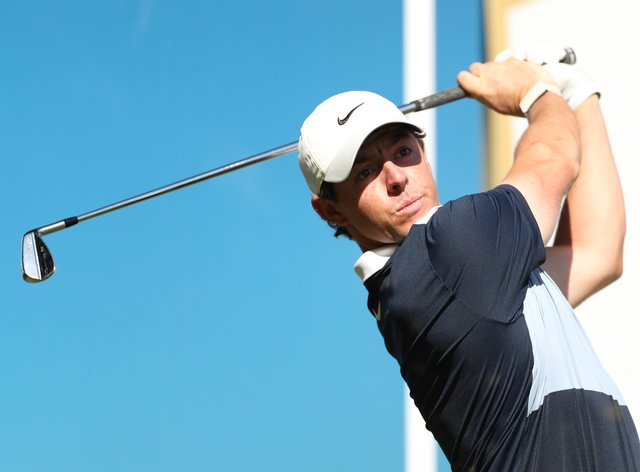 Rory McIlroy set the clubhouse target with an opening 64 in Abu Dhabi
