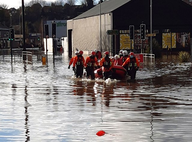 Emergency services evacuate retirement home Weaver Court in Northwich, Cheshire