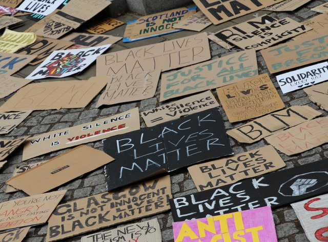 Signs from a Black Lives Matter