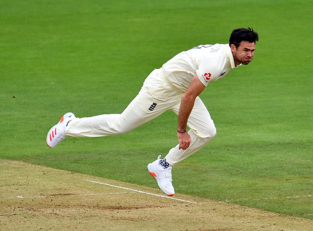 James Anderson claimed three wickets on the opening day