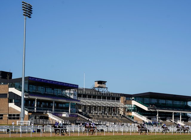 A general view of Newcastle racecourse