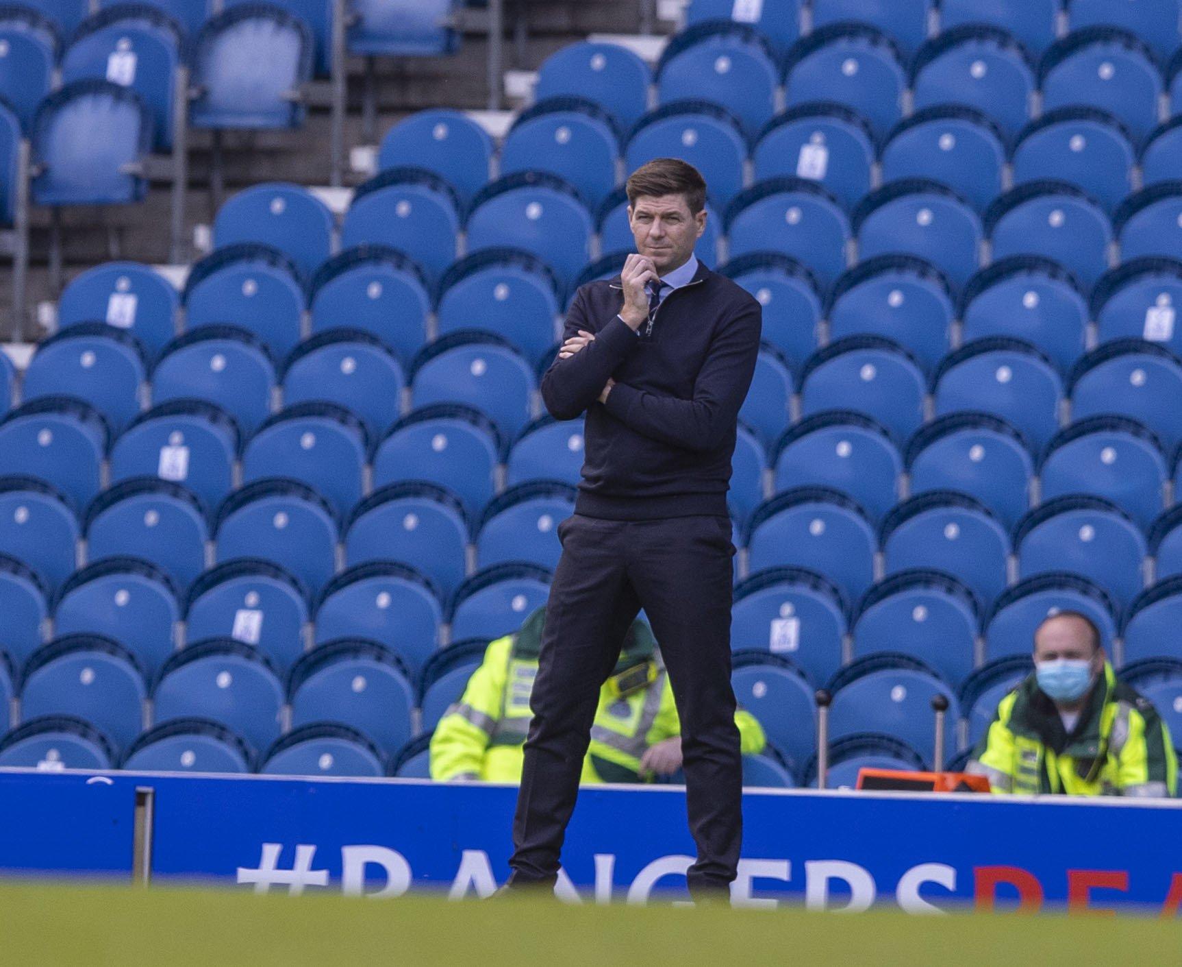Steven Gerrard longs for return of fans as Rangers march towards title