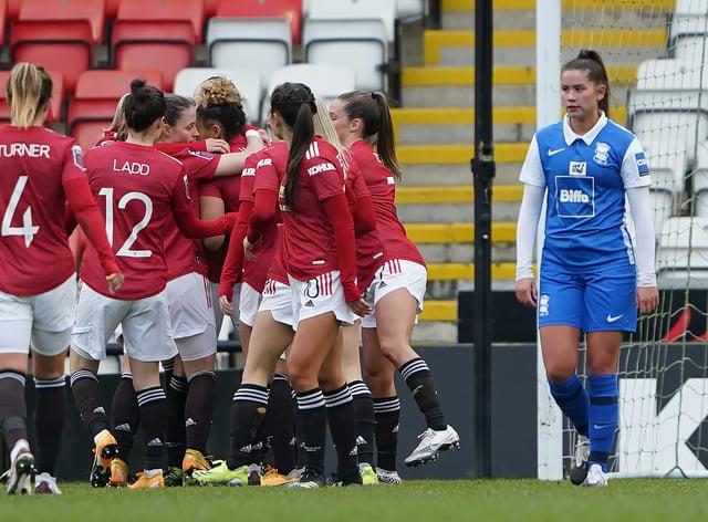 Manchester United v Birmingham City – FA Women's Super League – Leigh Sports Village Stadium