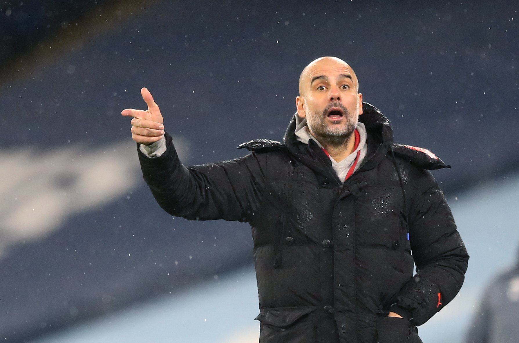 Pep Guardiola gives talk of a clean sweep the brush-off