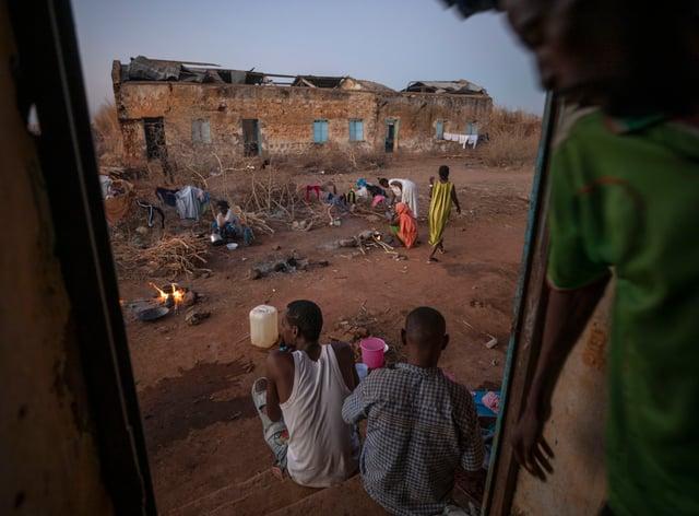 Tigrayan refugees at a camp in Qadarif, eastern Sudan