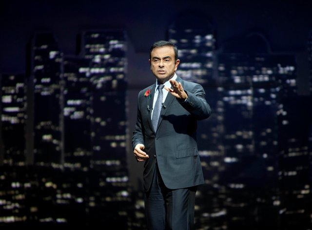 Carlos Ghosn, CEO of Nissan, during the unveiling of the next generation crossover – the all-new Nissan Qashqai