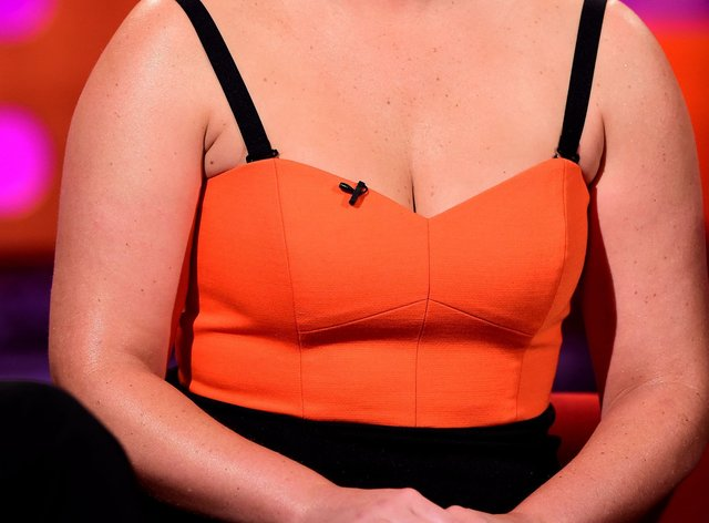 Amy Schumer during filming of the Graham Norton Show