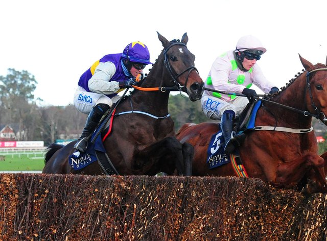 Monkfish (right) and Latest Exhibition in action at Leopardstown in December