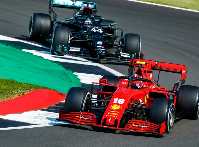 Formula One cars in action