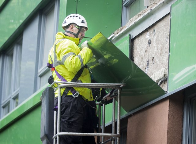 Cladding being removed from Hanover tower block in Sheffield