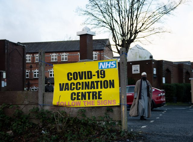 The Al Abbas Mosque in Birmingham, which is being used as a Covid vaccination centre