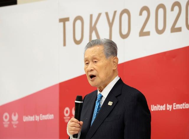 Tokyo 2020 organising committee president Yoshiro Mori announces his resignation