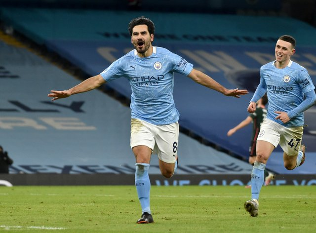 Ilkay Gundogan double delivers record-extending 16th straight win for Man  City | NewsChain