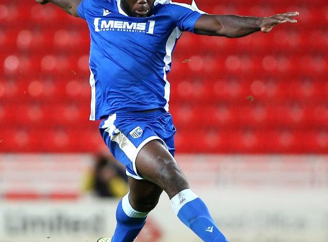 John Akinde scored for Gillingham
