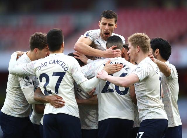Manchester City celebrate a goal
