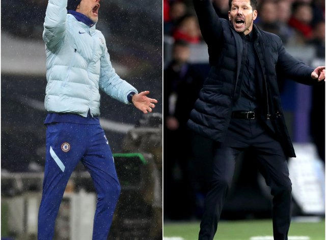Diego Simeone and Thomas Tuchel will do battle for the first time in a competitive fixture on Tuesday
