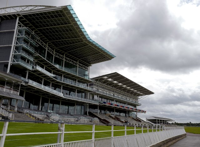 A general view of empty stands during York's Ebor meeting last year