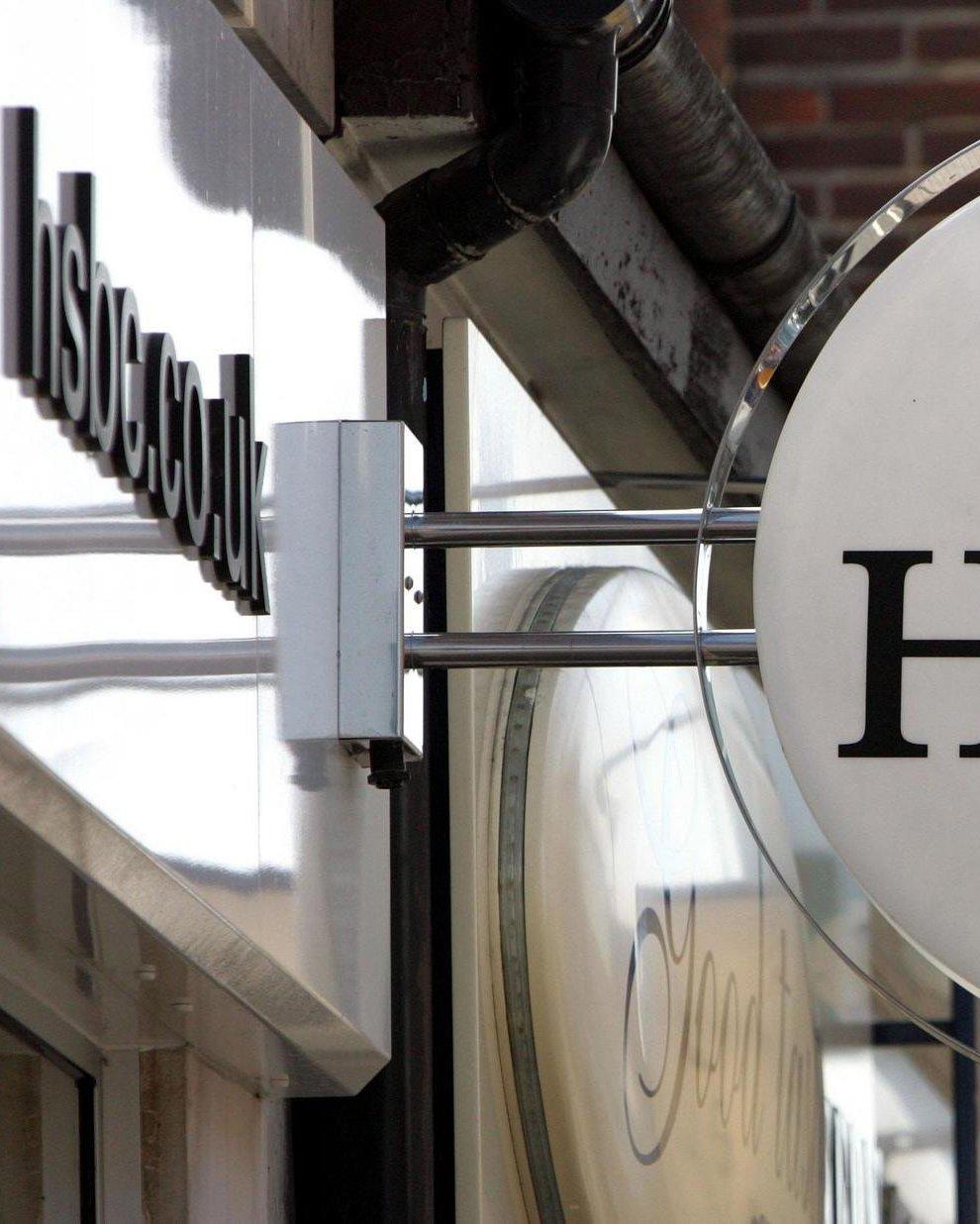 HSBC sign outside branch