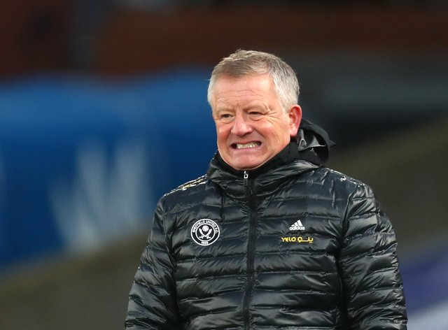 Chris Wilder's Sheffield United sit at the foot of the table