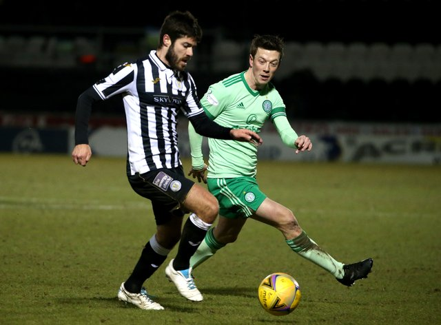 St Mirren's Ryan Flynn (left) is ready to fight for his place in Jim Goodwin's team