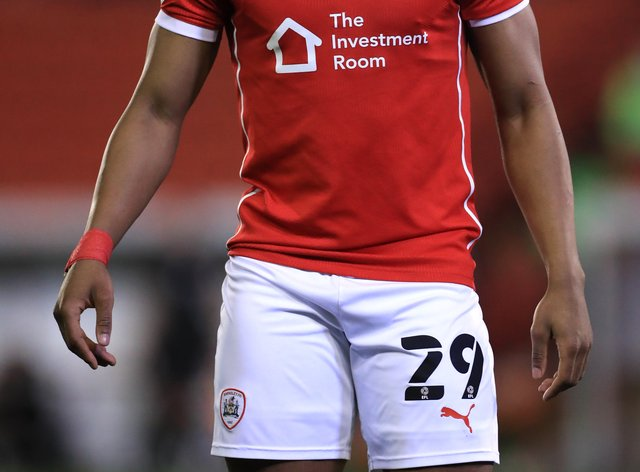 Victor Adeboyejo in action for Barnsley