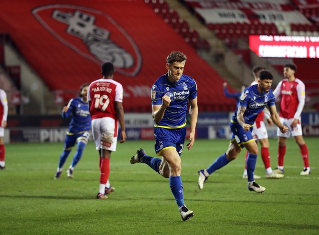 Ryan Yates scored the only goal for Forest at Rotherham
