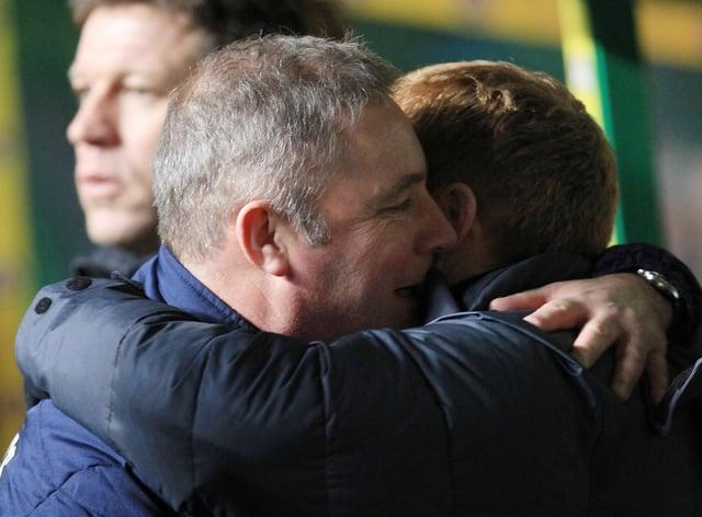 Ally McCoist, left, feels leaving Celtic is the right thing for Neil Lennon