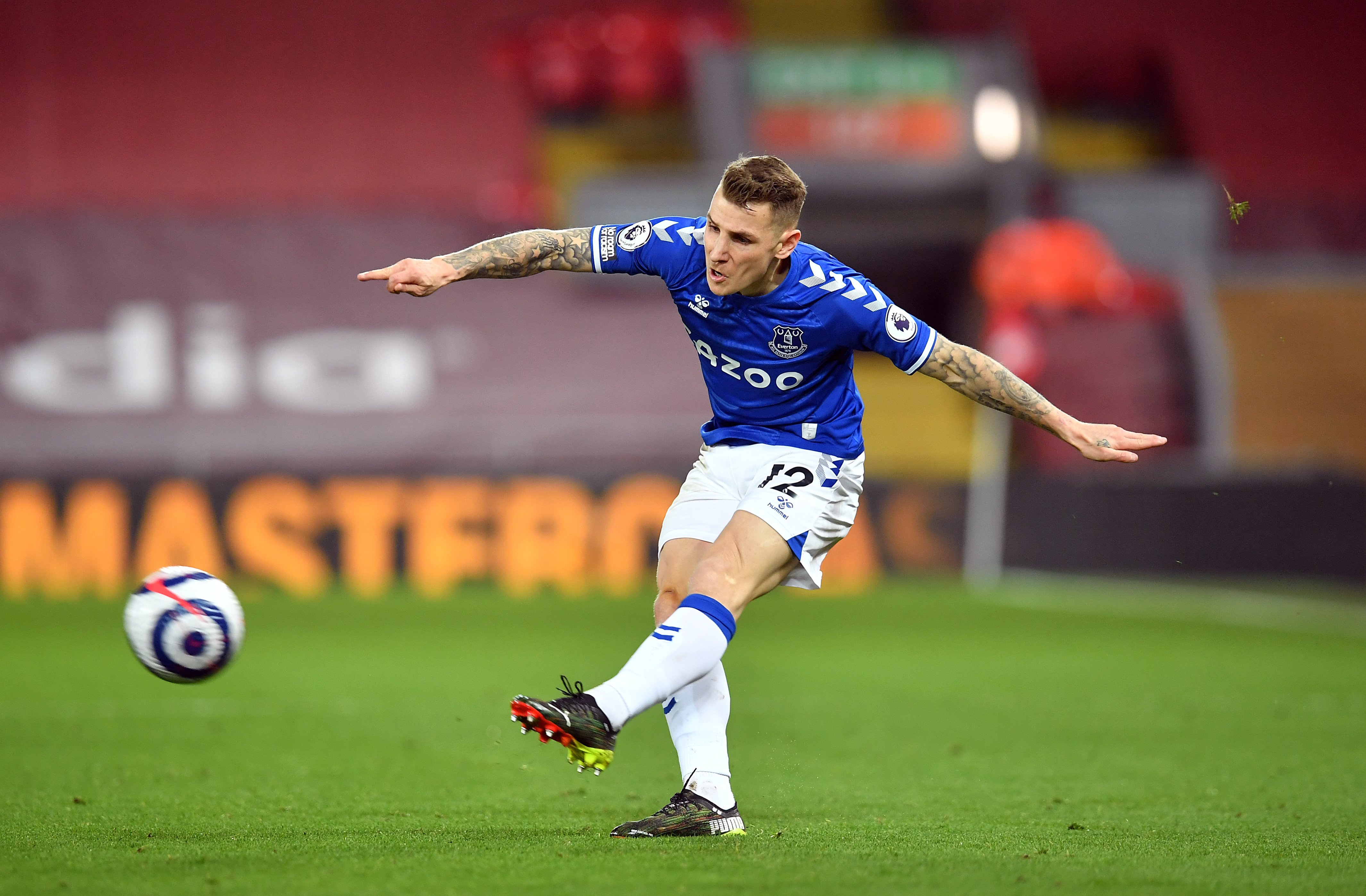Lucas Digne aiming for Champions League after signing new deal at Everton