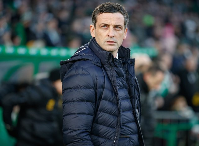 Jack Ross on the touchline