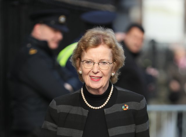 Former President of Ireland Mary Robinson