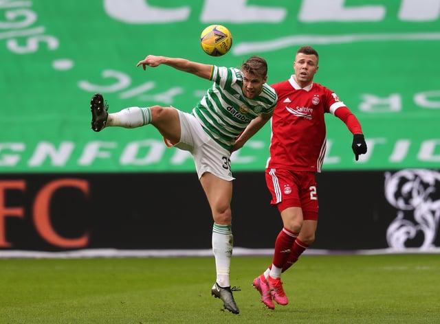 Celtic's Kristoffer Ajer (left) will attract interest says interim boss John Kennedy