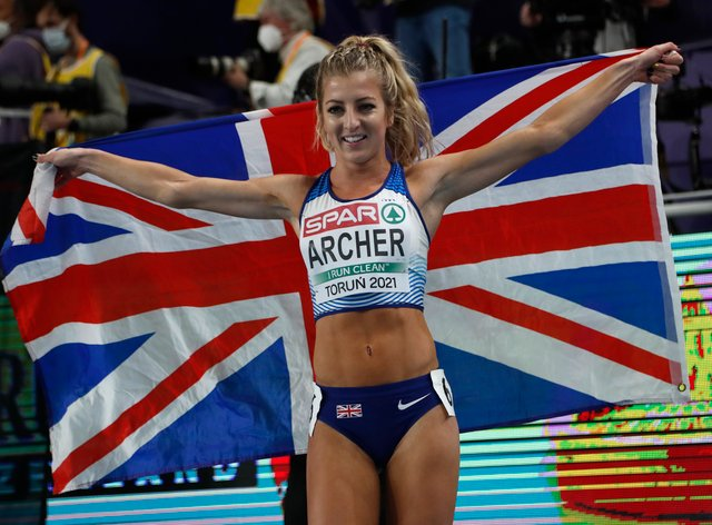 Holly Archer had a nervous wait before being reinstated as winner of the silver medal in the women's 1500 metres