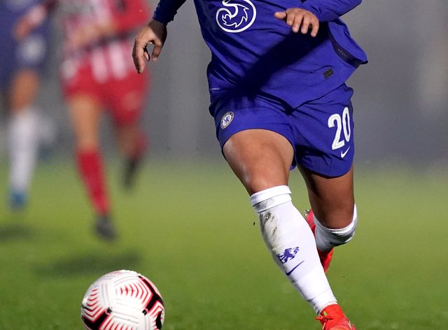 Sam Kerr, pictured, helped Chelsea move back to the top of the Women's Super League
