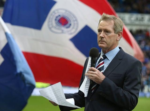 Rangers chairman Dave King give a speech