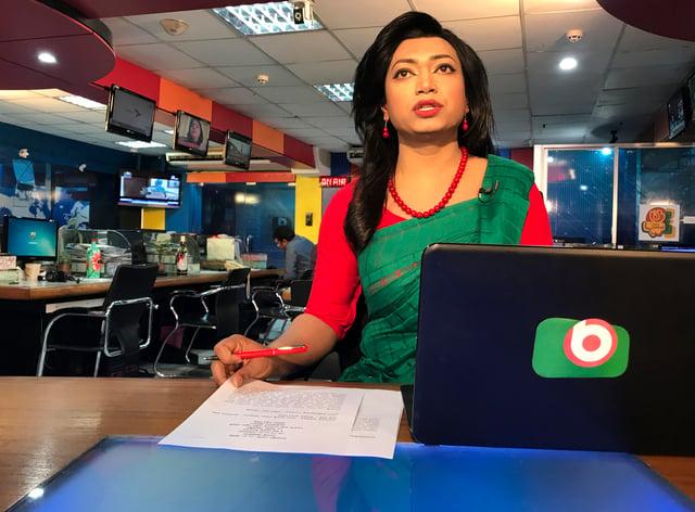 Bangladesh's first transgender news anchor Tashnuva Anan Shishir