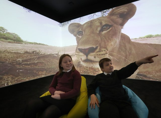 Children in the immersive classroom