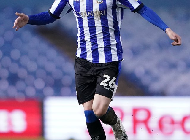 Sheffield Wednesday's Liam Shaw in action