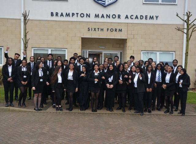 Pupils at Brampton Manor Academy who have received Oxbridge offers