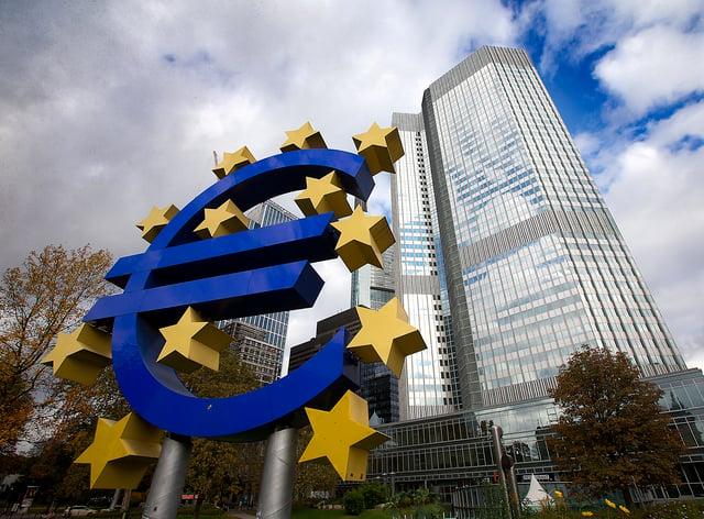 General view of the European Central Bank in Frankfurt, Germany (John Walton/PA)