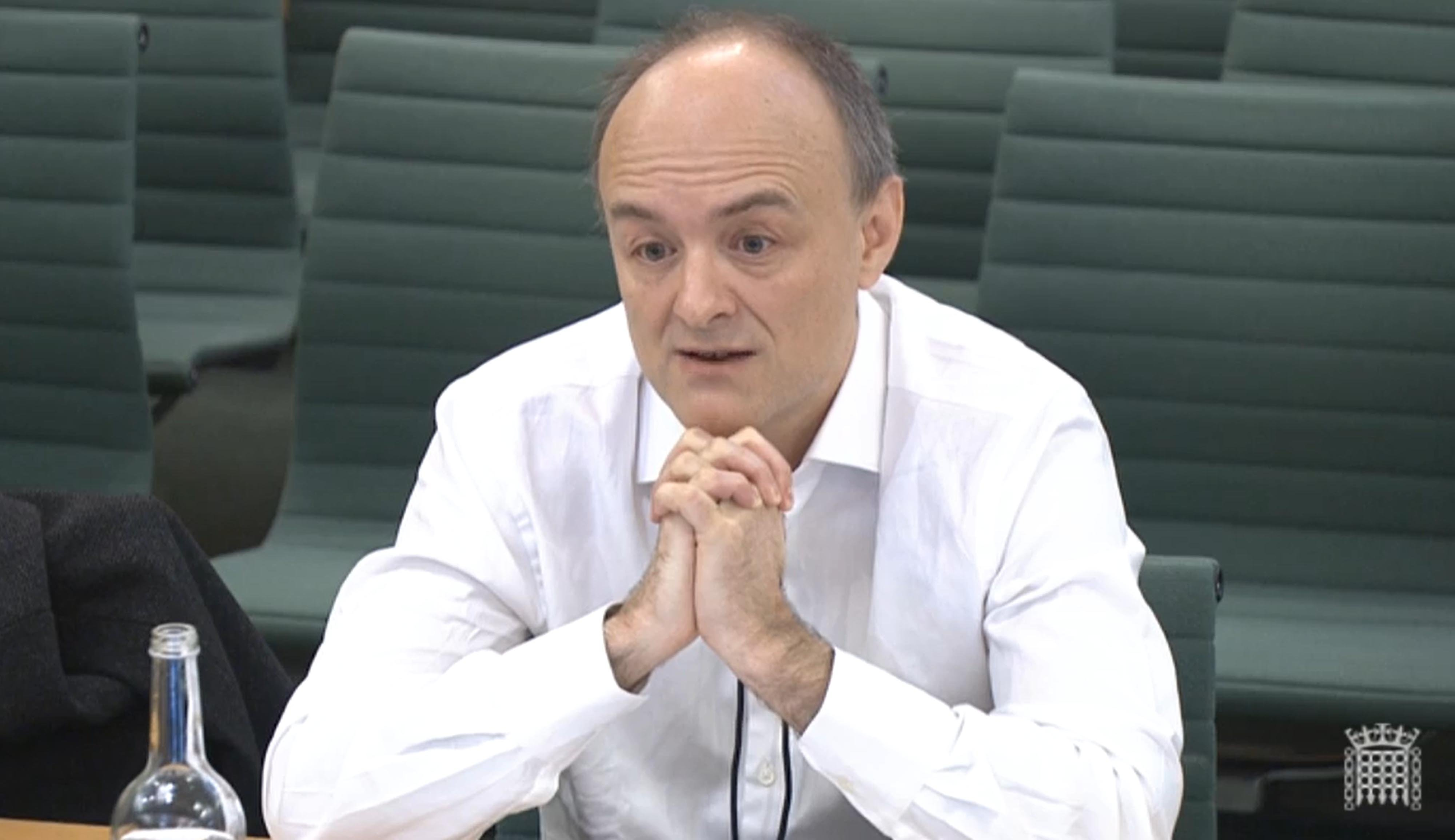 Cummings says Covid response held back by EU and 'smoking ruin' department